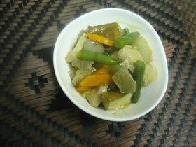 野菜と鶏肉の炊き合わせ