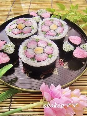 ひな祭りやお祝いに✿桃の飾り巻き寿司✿