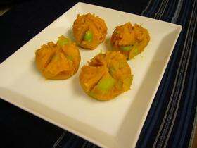 かぼちゃ茶巾  ★煮物リメイク★