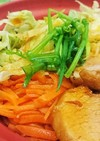 時短美味〜〜チャーシューと野菜どんぶり♪