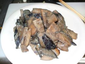 筍と茄子の味噌炒め