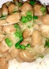 ブロッコリースプラウトと納豆のごはん