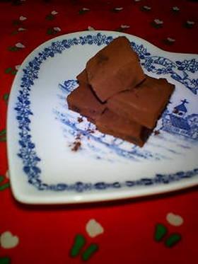 簡単バレンタイン♥生チョコ♥オトナ味♪