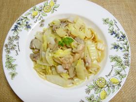 鱈と白菜のペペロンチーノ
