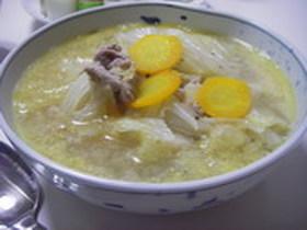 あったか♪キャベツのマスタード煮スープ