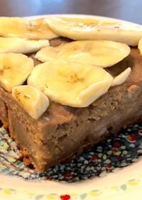 米粉とバナナのチョコケーキ