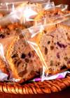 カシス・レーズン・クルミのパウンドケーキ