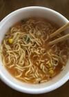 エースコックワンタンメン 担々麺アレンジ