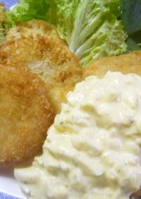 タルタルソースたっぷり白身魚と野菜フライ