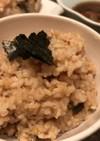 カニとポルチーニ茸の洋風炊き込みご飯