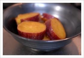 活力鍋でさつま芋のレモン煮