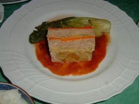 豚挽き肉と野菜のミルフィーユ。