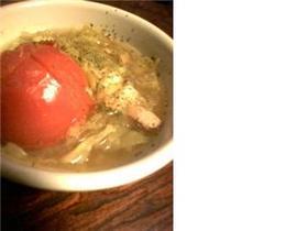 丸ごとトマトとろーりきゃべつカレースープ