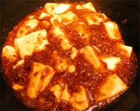 複雑な材料を使わない麻婆豆腐