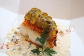 会津伝統野菜小菊かぼちゃの真鯛のエカイエ