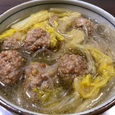 白菜と豚挽肉の団子鍋 中華風アレンジ
