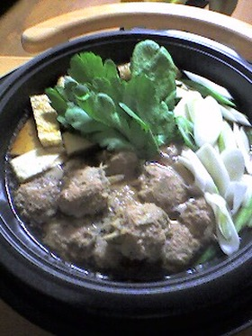 牛蒡入りっ!美味しい肉団子の鍋