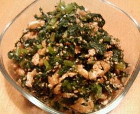 米ぬか入りかぶの葉っぱ炒め煮