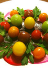 紅くるり大根、ビーツ、ミニトマトのマリネ