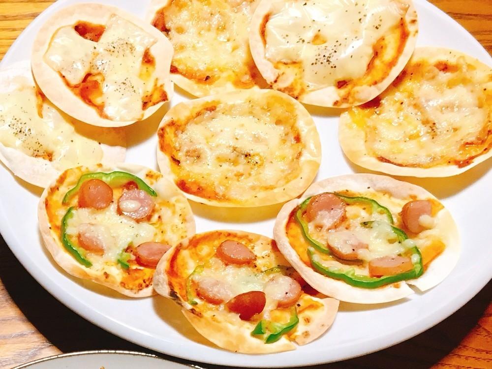 餃子の皮でピザ/クックパッド