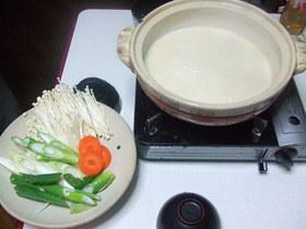 簡単っ!無調製豆乳で豆乳鍋♪