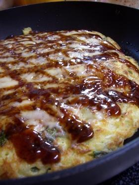 豆腐とお野菜のお好み焼き