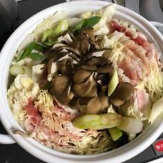 旨味とろける☆白菜と豚のピリ辛鍋