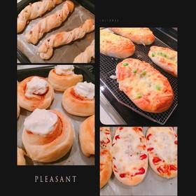 パン生地2種【惣菜、菓子】と具材一覧