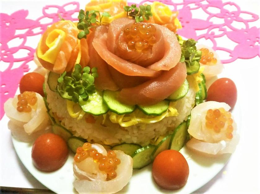 ひな祭りやお祝にちらし寿司ケーキ