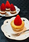 いちご♡おやつ♡ドーナツスモアのケーキ