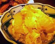 白菜のごま油炒め卵とじの写真