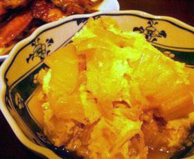 白菜のごま油炒め卵とじ