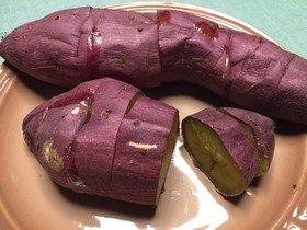 レンジとグリルで甘い焼き芋