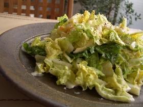 白菜と卵のサラダ