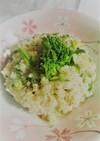 【野菜ソムリエ】花菜の山椒リゾット