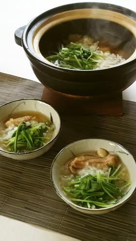 京壬生菜と鶏肉のおろし煮
