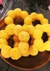 (離乳食)にんじんと玉ねぎの焼きドーナツ
