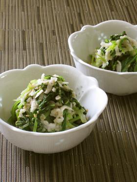 壬生菜と切り干し大根のごま酢和え