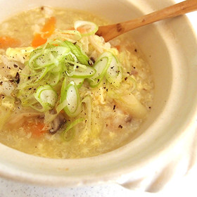 ヌートリアスープde中華風ふんわり卵雑炊