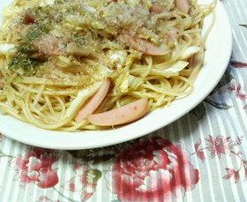 ✿魚肉ソーセージと❀白菜の✿パスタ