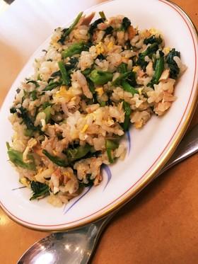ツナと野沢菜のチャーハン