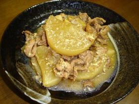 大根と豚肉のしっかり味噌煮