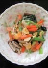 鶏のささみと小松菜のとろみ炒め