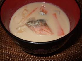 寒い日に♪鮭のかす汁