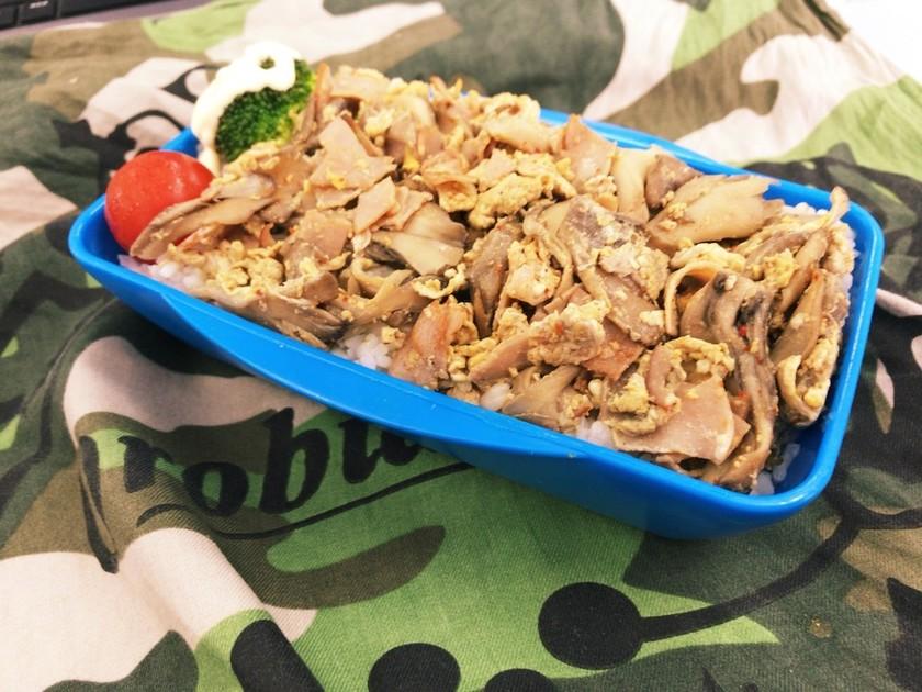 舞茸とハムの味ぽん炒め