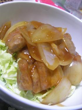 【男の料理】黒酢豚丼