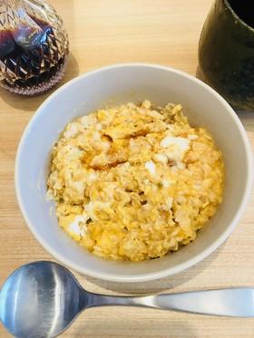 簡単レンジ朝食/半熟卵オートミール