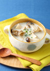 アーモンドミルクで♪ヘルシーきのこスープ