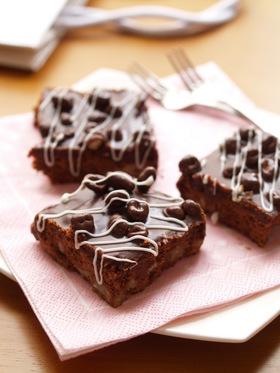 バレンタインに♥麦チョコガナッシュコーヒーブラウニー
