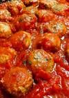 ロカボ☆豚ひき肉ミートボールトマトソース